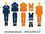 man worker in professional... | Shutterstock .eps vector #441639610