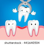 teeth treatment and care. ... | Shutterstock .eps vector #441640504