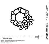 web line icon. wreath | Shutterstock .eps vector #441640894