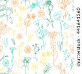 seamless pattern with herbs and ... | Shutterstock .eps vector #441641260