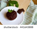 top view of chocolate muffin... | Shutterstock . vector #441643888