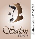 logo woman silhouette  head ... | Shutterstock .eps vector #441654796