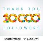 the vector thanks card for... | Shutterstock .eps vector #441655894