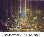 new york's 42nd street with... | Shutterstock . vector #441668050