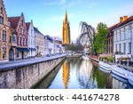 Canals Of Bruges With The...