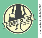 cleaning service logotype in...