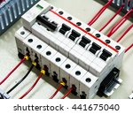Small photo of Automatic circuit breaker isolated and surge protection device on control panel