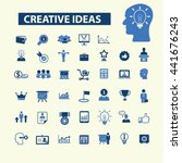creative ideas icons | Shutterstock .eps vector #441676243