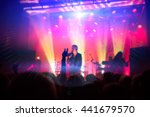 silhouettes of people and... | Shutterstock . vector #441679570