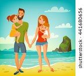 Vector Love Family Illustration....