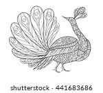 peacock ornamental hand drawn.... | Shutterstock .eps vector #441683686