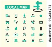 local map icons | Shutterstock .eps vector #441686173