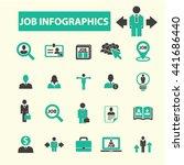 job infographics icons | Shutterstock .eps vector #441686440