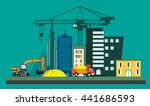 abstract city under construction | Shutterstock .eps vector #441686593