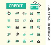 credit icons | Shutterstock .eps vector #441687844