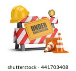 under construction barrier.... | Shutterstock . vector #441703408