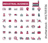 industrial business icons  | Shutterstock .eps vector #441705556