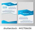 vector flyer template design....   Shutterstock .eps vector #441706636