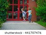 two pupils of elementary school ...   Shutterstock . vector #441707476