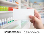 close up pharmacist hand hold... | Shutterstock . vector #441709678