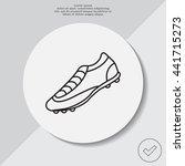 soccer boots label   vector... | Shutterstock .eps vector #441715273