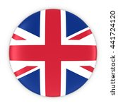 british flag button   flag of... | Shutterstock . vector #441724120
