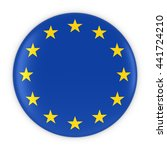 european flag button   flag of... | Shutterstock . vector #441724210