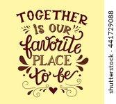 hand lettering typography... | Shutterstock . vector #441729088