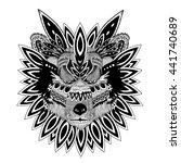 wolf tribal design | Shutterstock .eps vector #441740689