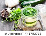 Sliced  Zucchini With Parsley...