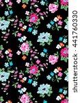 cute ditsy flower print  ... | Shutterstock .eps vector #441760330