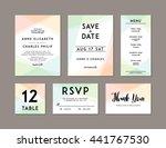 modern wedding set template.... | Shutterstock .eps vector #441767530