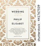 vintage wedding invitation... | Shutterstock .eps vector #441767539
