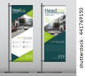 green flag banner business...   Shutterstock .eps vector #441769150