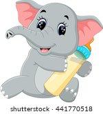 cute elephant cartoon | Shutterstock . vector #441770518