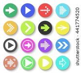 arrow sign icon set. flat style.... | Shutterstock .eps vector #441774520