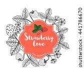 strawberry label. | Shutterstock .eps vector #441786670