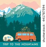 retro print trips to the... | Shutterstock . vector #441787594