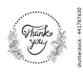 thank you   ink hand drawn...   Shutterstock .eps vector #441787630