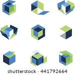 3d Abstract Architecture Box...