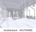 house building sketch  3d... | Shutterstock . vector #441794080