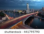 Постер, плакат: Night traffic movement at
