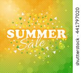 summer sale design  vector web... | Shutterstock .eps vector #441797020