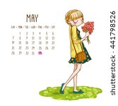 May. 2017 Calendar With Cute...