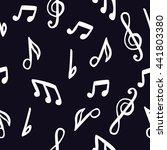 pattern notes | Shutterstock . vector #441803380