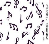 pattern notes | Shutterstock .eps vector #441803410