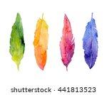 Hand Drawn Watercolor Rainbow...
