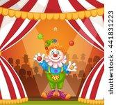 juggling cartoon clown | Shutterstock . vector #441831223