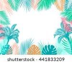 vector tropical jungle... | Shutterstock .eps vector #441833209