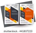 flyer brochure design  business ... | Shutterstock .eps vector #441837223